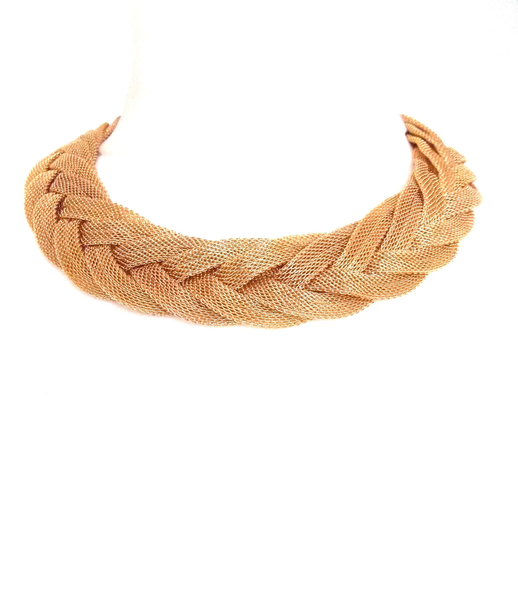 Gold Plait Style Necklace