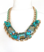 Load image into Gallery viewer, Green  Bead Statement Necklace