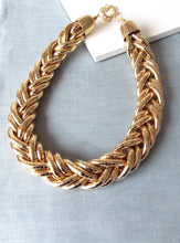 Load image into Gallery viewer, Chunky Gold Plait Style Necklace