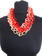 Load image into Gallery viewer, Chunky Acrylic Coral Chain Statement Necklace