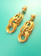 Load image into Gallery viewer, Clip On Gold Chain Earrings
