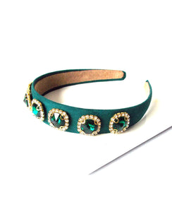 Green Jewelled Headband