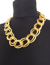 Load image into Gallery viewer, Chunky Gold Double Link Chain Necklace
