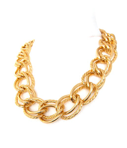 Chunky Gold Double Link Chain Necklace