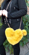 Load image into Gallery viewer, Mustard Faux Fur Cross Body Bag