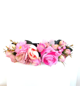 Pink Floral Stretch Belt