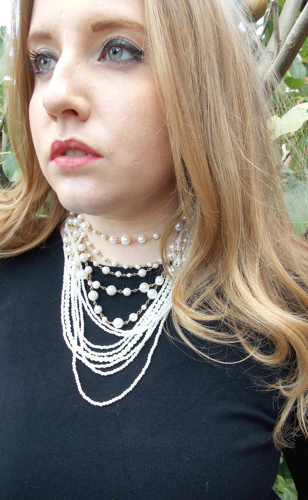 Pearl Layered Statement Necklace