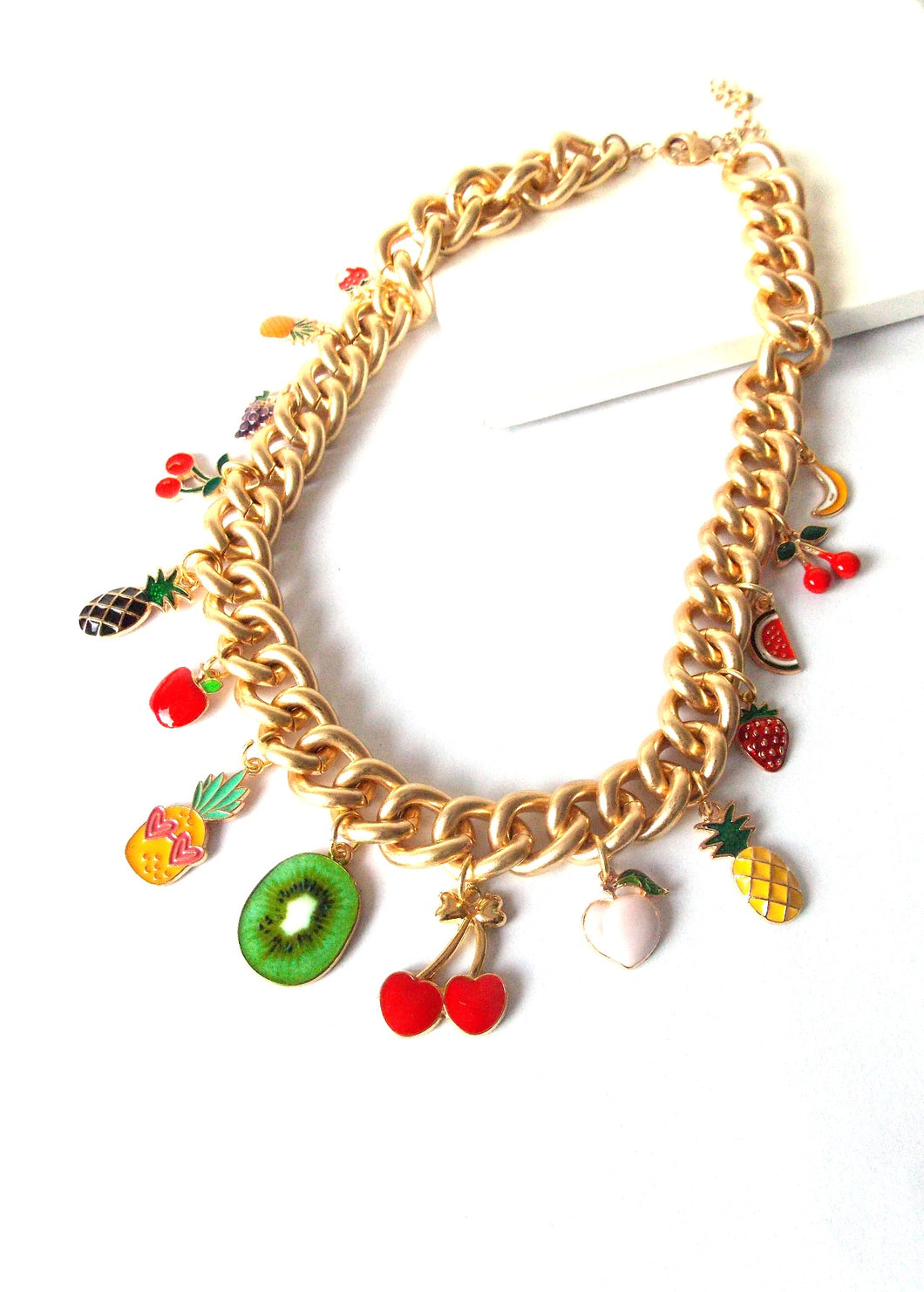 Tropical Fruit Charm Necklace