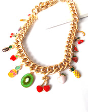 Load image into Gallery viewer, Tropical Fruit Charm Necklace