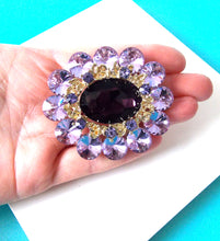 Load image into Gallery viewer, Lilac Jewelled Statement Brooch