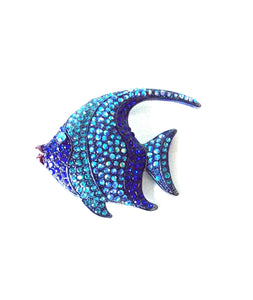 Blue Jewelled Fish Brooch