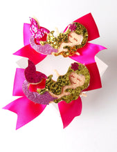 Load image into Gallery viewer, Girls Gold Glitter Mermaid Headband and Hair Clip Set
