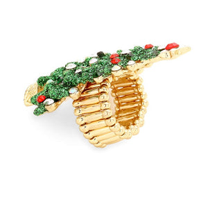 Green Christmas Tree Stretch Ring