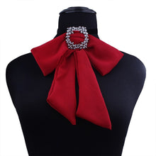 Load image into Gallery viewer, Red Pussy  Bow Choker  Necklace