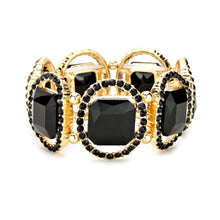 Load image into Gallery viewer, Black and Gold Stretch Style Bracelet