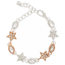 Load image into Gallery viewer, Rose Gold and Silver Crystal Star Bracelet