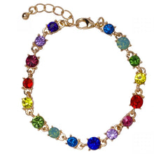 Load image into Gallery viewer, Multi Coloured Rhinestone Bracelet