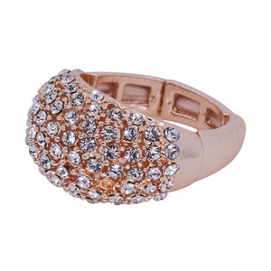 Rose Gold Jewelled Stretch Ring