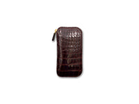 KEY FOB SHINY BORDEAUX CROCODILE