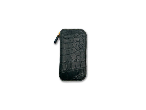 KEY FOB BLACK CROCODILE