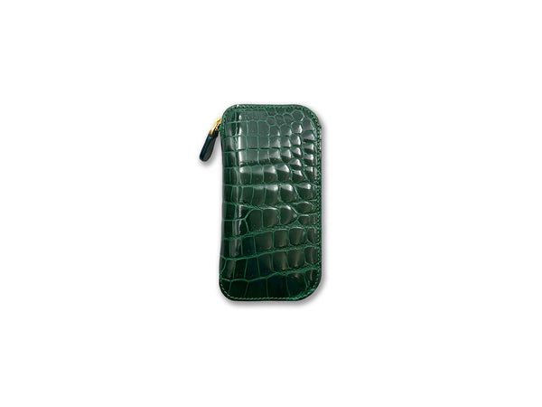 KEY FOB SHINY GREEN CROCODILE