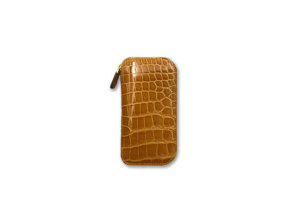 KEY FOB SHINY OCHER CROCODILE