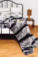 BLANKET KNITTED REX CHINCHILLA 0.60 x 2.10