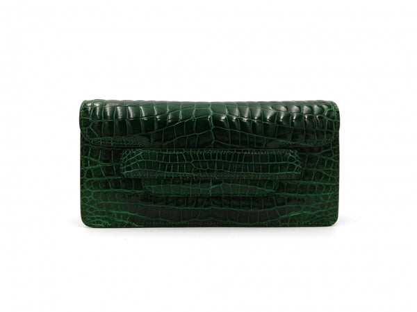 MIA SHINY GREEN MINI CLUTCH