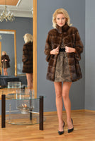 FUR COAT BROWN COLOR