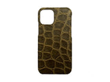 IPHONE 11 PRO OLIVE CROCODILE