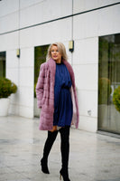 FUR COAT LILA COLOR