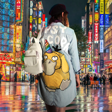 psyduck custom denim jacket