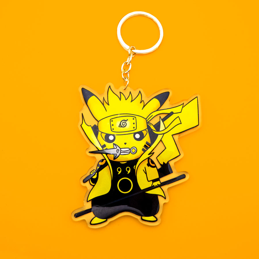 Pikaruto Acrylic Keychain - Double Sided Anime Charm
