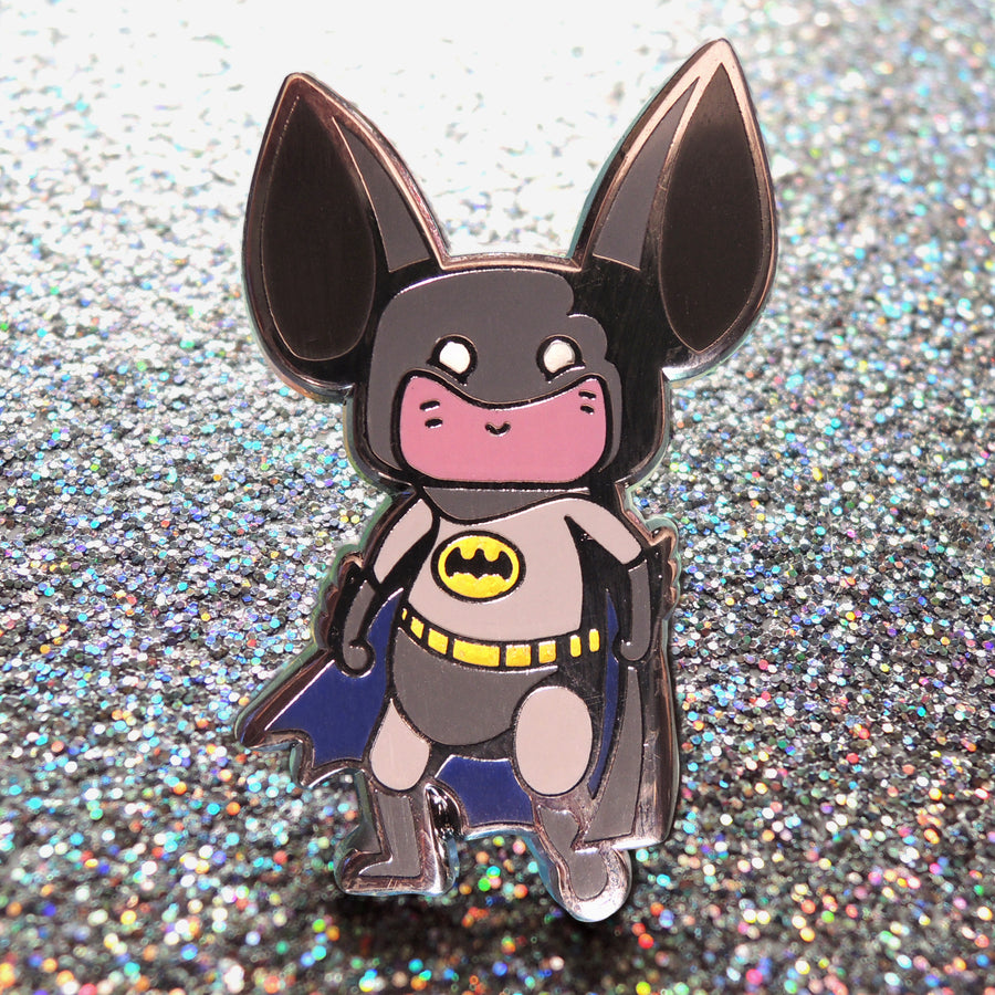 glitter batman pin
