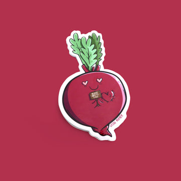 my heart beets for you beet root sticker