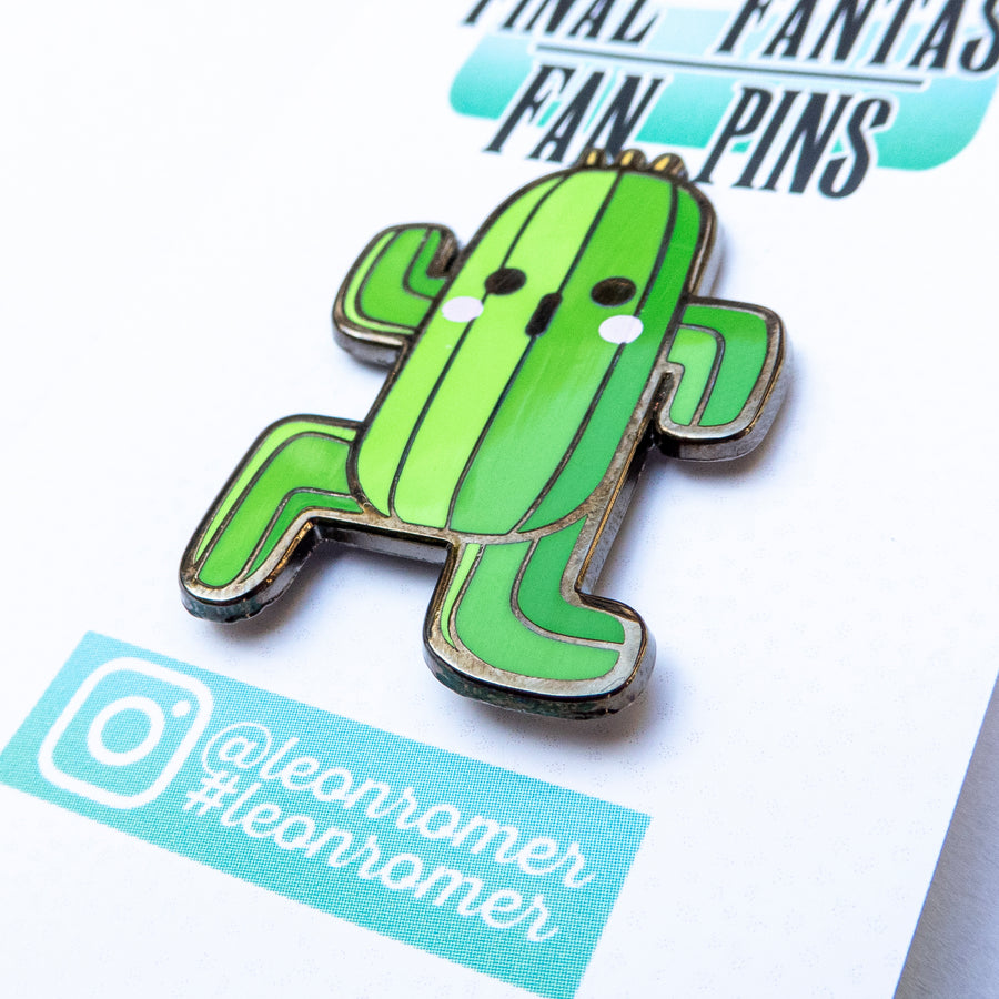 cactus hard enamel pin close up