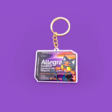 Cat Allergy Acrylic Keychain