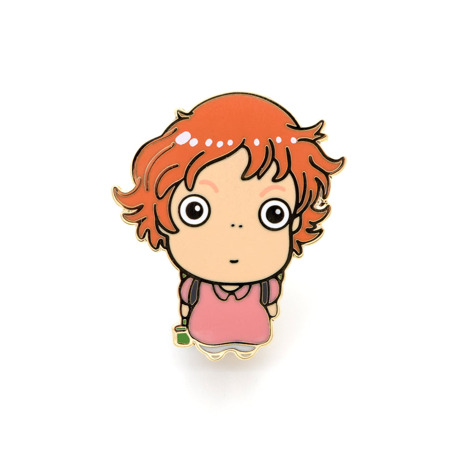 Girl enamel pin