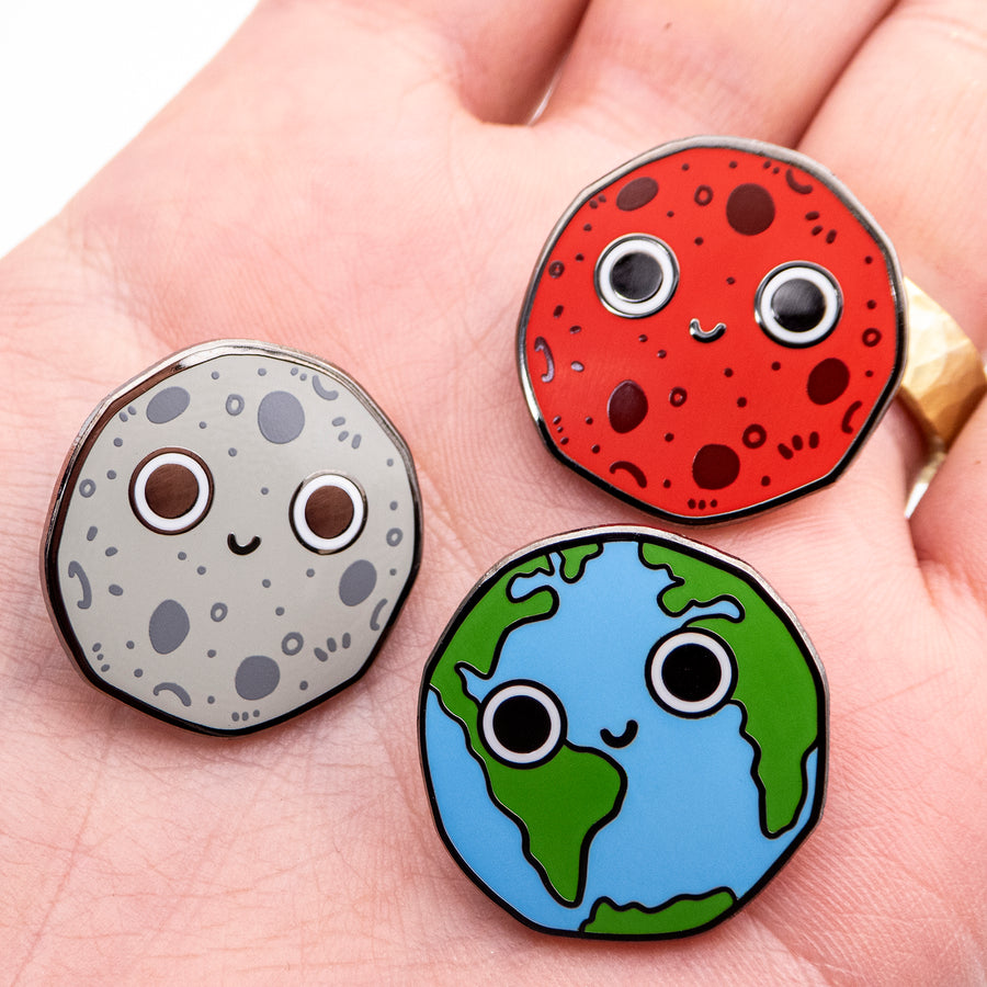 planets hard enamel lapel pin