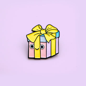 pastel easter wrapped pin gift