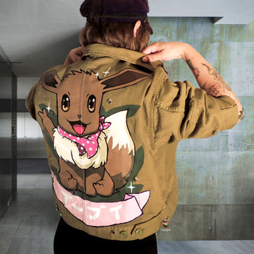 custom green army jacket