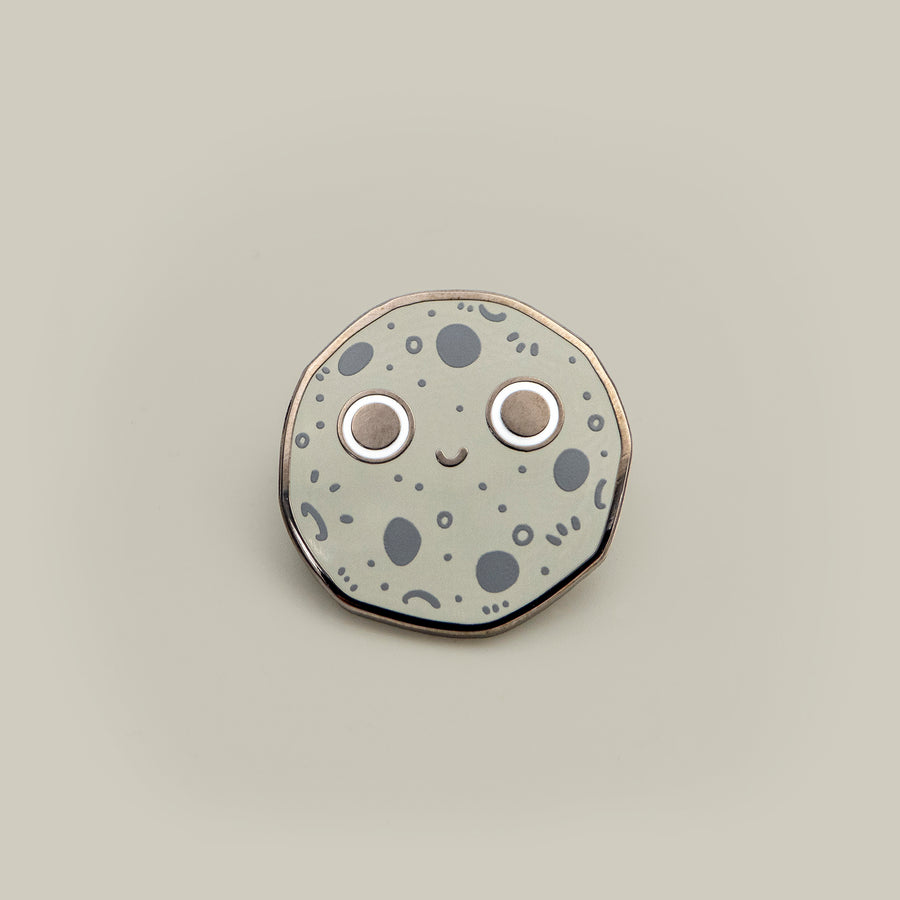 the moon enamel pin