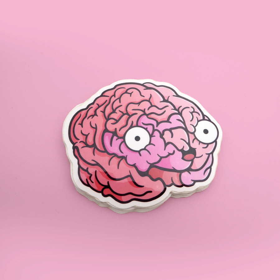 human brain vinyl sticker