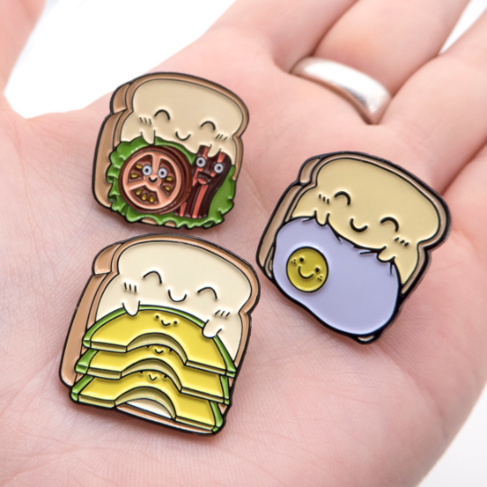 toasted bread pin collection