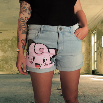 custom denim shorts