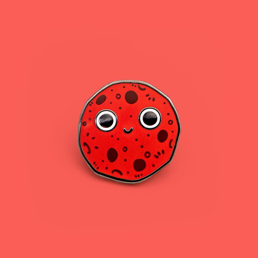 red planet enamel pin mars