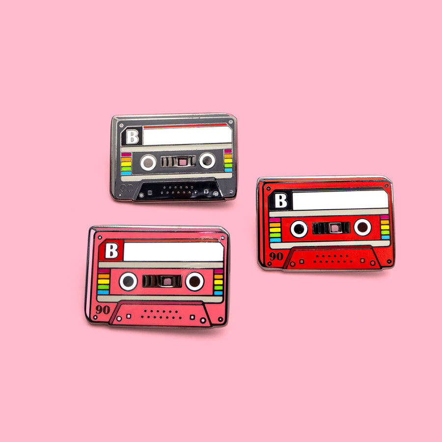 retro CASETTE MIXTAPE pins