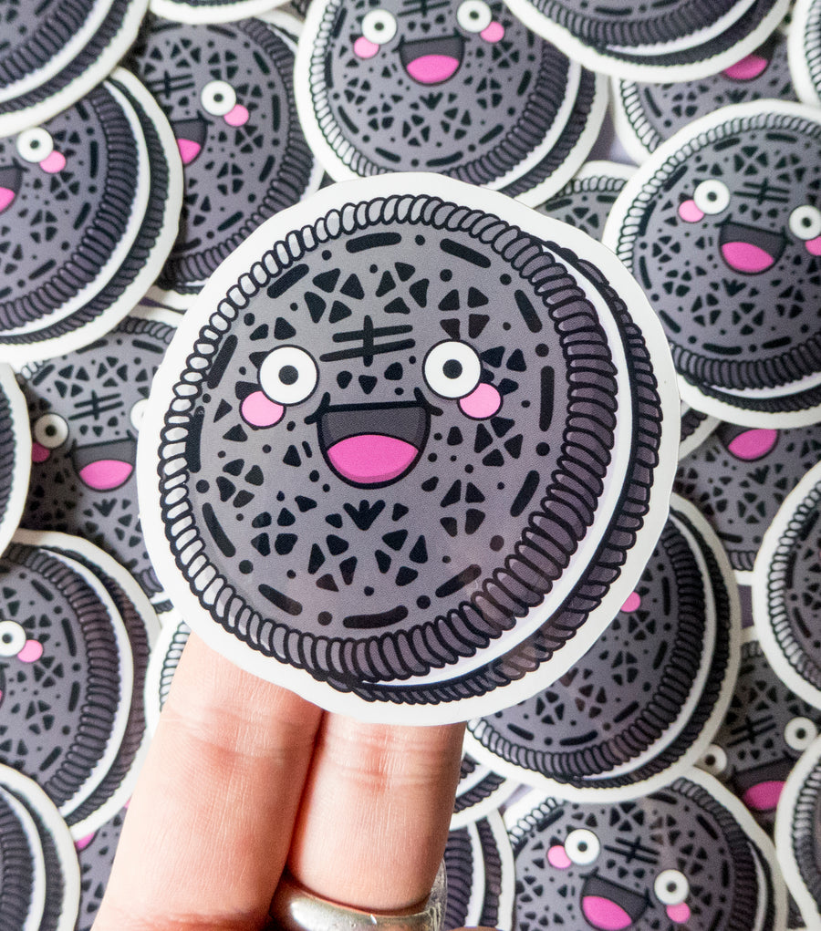 happy oreo vinyl sticker