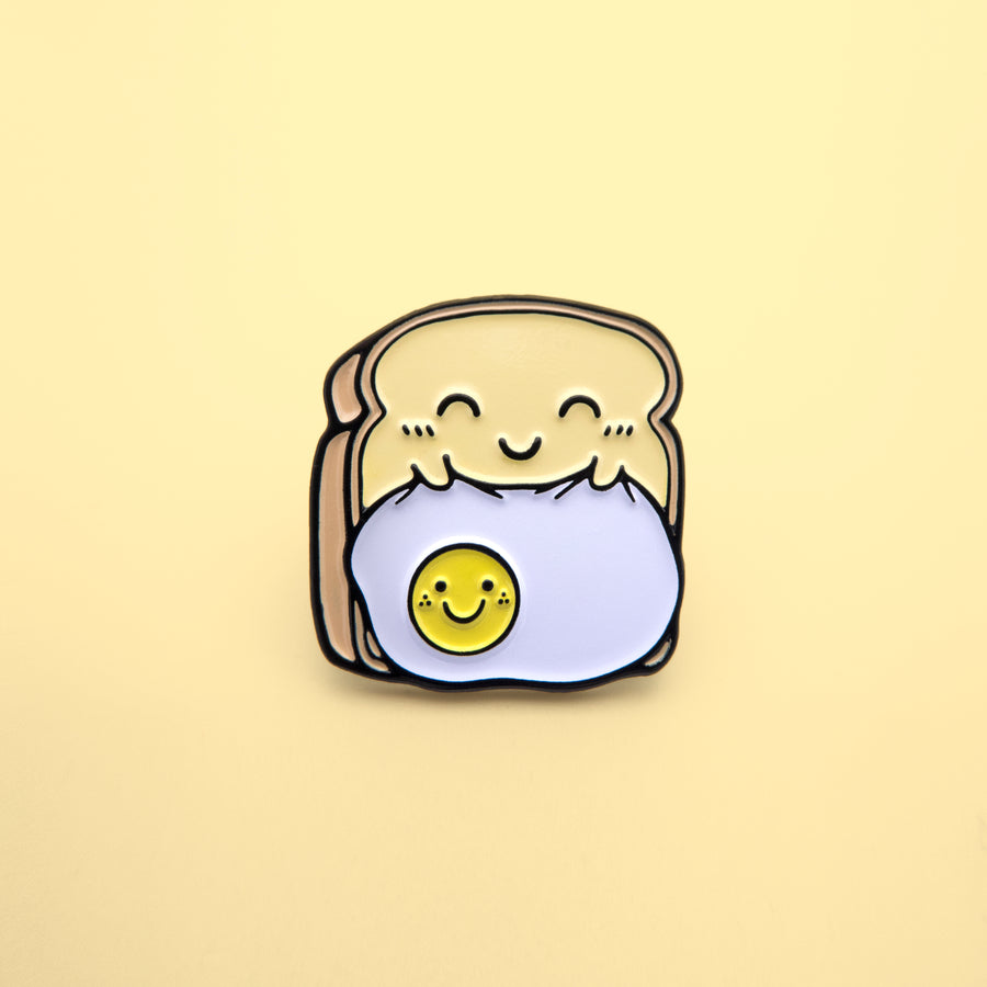 happy toast pin
