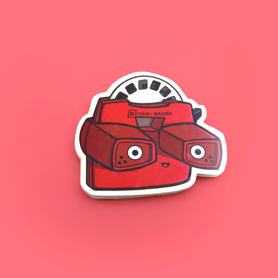 view master retro toy vinyl sticker